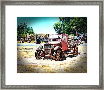 Antique Chevy Truck Framed Print by William Havle