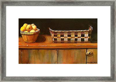 Antique Cupboard Framed Print