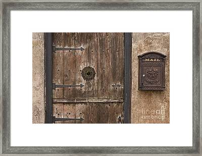 Antique Dutch Door And Mailbox Framed Print by Will & Deni McIntyre