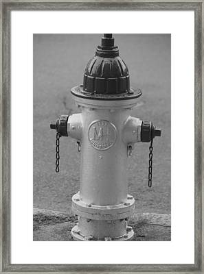 Antique Fire Hydrant Cambridge Ma Framed Print