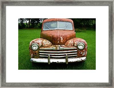 Antique Ford Car 8 Framed Print by Douglas Barnett