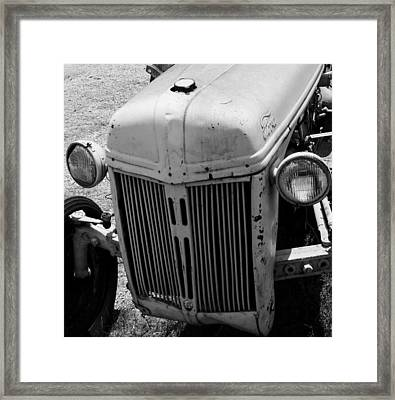 Antique Ford Tractor Framed Print