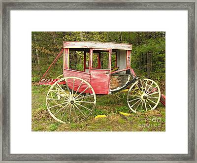 Framed Print featuring the photograph Old Horse Drawn Carriage by Sherman Perry