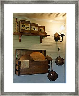 Antique Kitchen Wares Framed Print by Carmen Del Valle