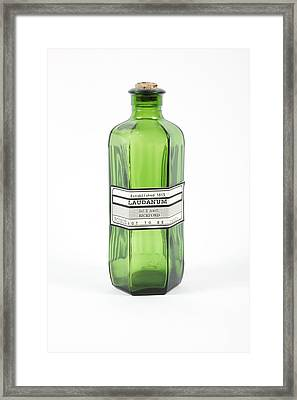 Antique Laudanum Bottle Framed Print by Gregory Davies, Medinet Photographics