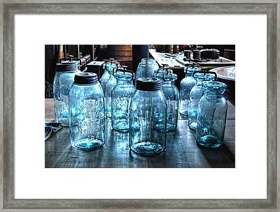 Antique Mason Jars Framed Print by Mark Sellers