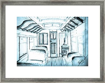 Framed Print featuring the drawing Antique Passenger Car by Shannon Harrington