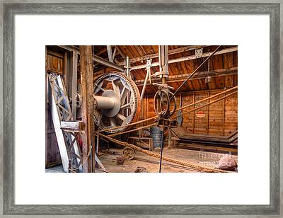 Framed Print featuring the photograph Antique Power Station by Lawrence Burry