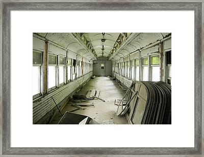Antique Railcar Framed Print