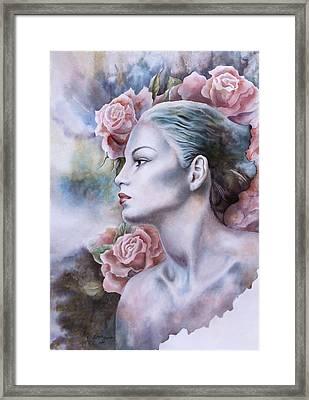 Antique Rose Framed Print by Tanya Jacobsz