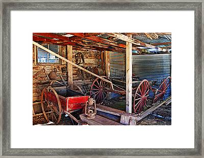 Antique Shed Framed Print by Melany Sarafis