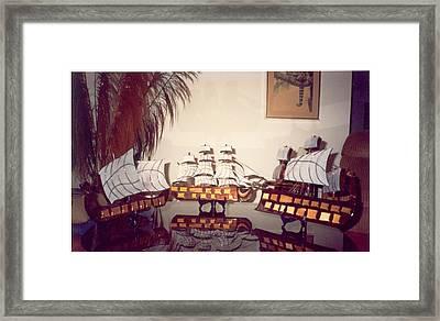Antique Ships Framed Print by Val Oconnor