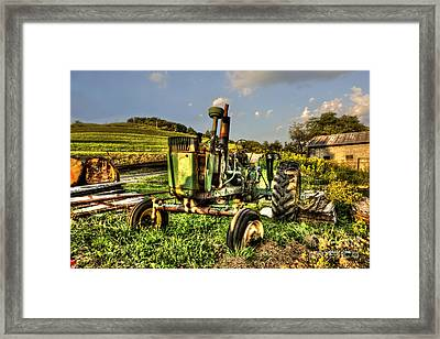 Antique Tractor Framed Print by Dan Friend