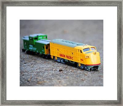 Antique Train Framed Print