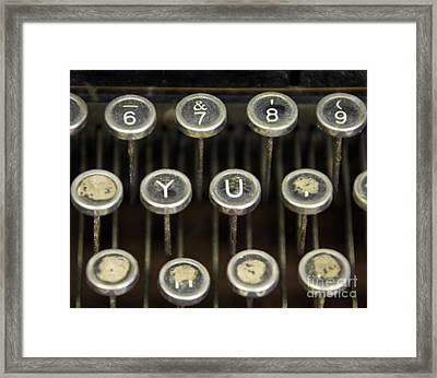 Antique Typewriter Buttons Framed Print