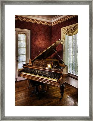 Antique Wein Grand Piano Framed Print