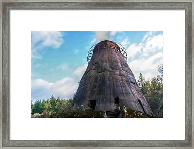 Antique Wigwam Burner Framed Print by Tyra  OBryant