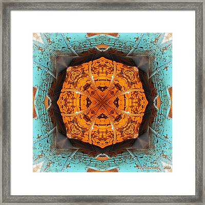 Framed Print featuring the photograph Antique Wood Baskets Kaleidoscope by Barbara MacPhail