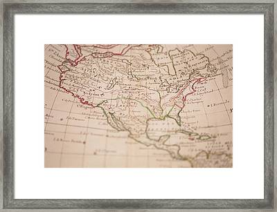 Antique World Map Framed Print by Ron Chapple