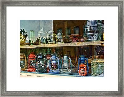Antiques For Sale Framed Print by Dale Stillman