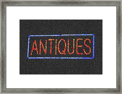 Antiques Mosiac Framed Print by Melany Sarafis