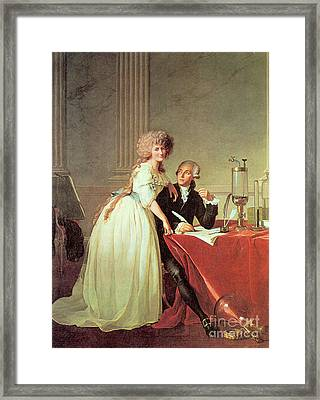 Antoine-laurent Lavoisier And His Wife Framed Print