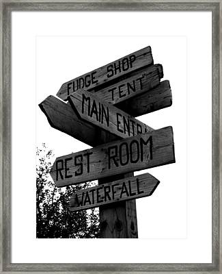 Any Which Way Framed Print