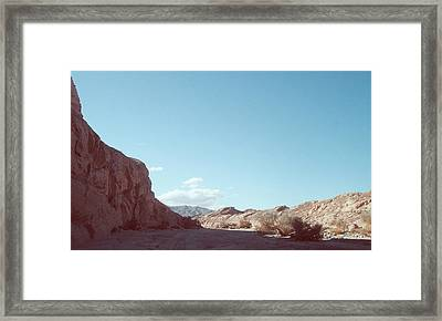 Anza Borrego Mountains Framed Print by Naxart Studio