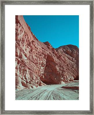 Anza Borrego Trail Framed Print by Naxart Studio