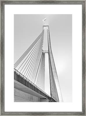 Anzac Bridge - Glebe Nsw Framed Print by Mark Lucey