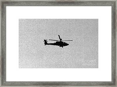 Apache Attack Helicopter Framed Print by Darren Burroughs