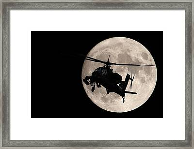 Apache In The Moonlight Framed Print