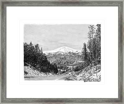 Apache Summit Siera Blanco Framed Print by Jack Pumphrey