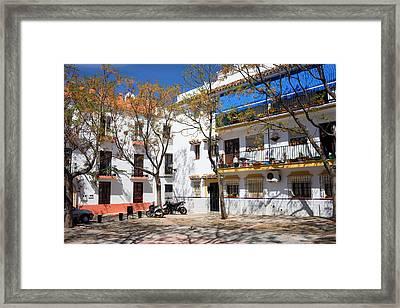 Apartment Houses In Marbella Framed Print by Artur Bogacki