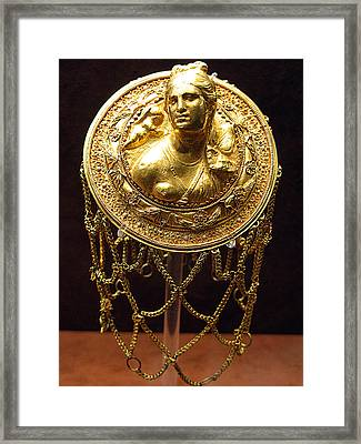Aphrodite Gold Hairnet Framed Print by Andonis Katanos