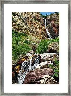 Apikuni Falls Framed Print by Greg Norrell