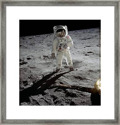Apollo 11 Astronaut Edwin Aldrin Framed Print by Everett