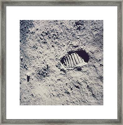Apollo 11 Footprint Framed Print