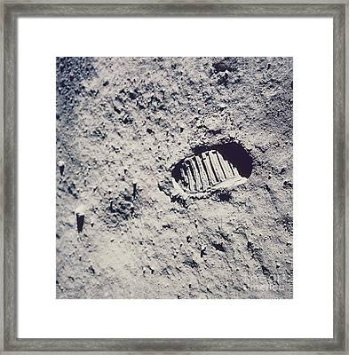 Apollo 11 Footprint Framed Print by Nasa