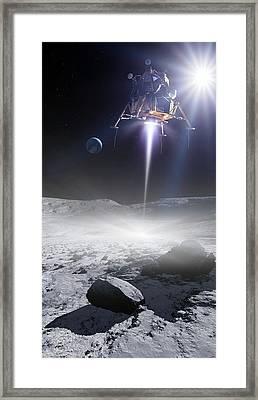 Apollo 11 Moon Landing, Artwork Framed Print by Detlev Van Ravenswaay