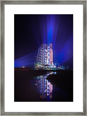Apollo 11 Sits On Its Launchpad Framed Print by O. Louis Mazzatenta