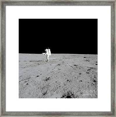 Apollo 14 Astronaut Makes A Pan Framed Print by Stocktrek Images