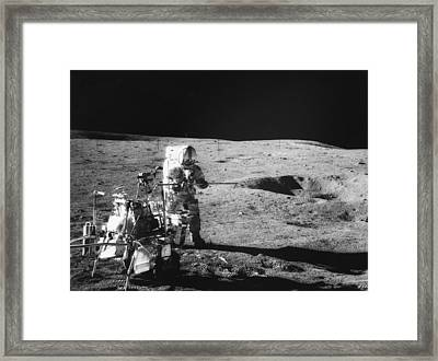 Apollo 14 Commander And Fifth Man Framed Print by Everett