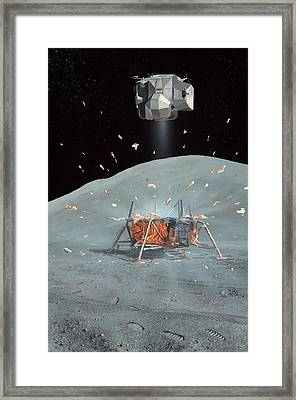 Apollo 17 Ascent Stage, Artwork Framed Print by Richard Bizley