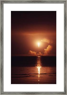 Apollo 17 Carrying The Fire Framed Print by Don Dixon