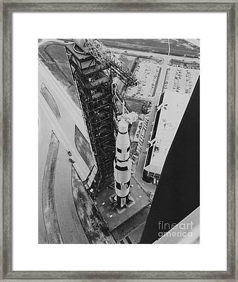 Apollo 500-f Saturn V Rocket Framed Print by NASA / Science Source