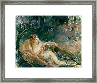Apollo Appearing To Latone Framed Print by Berthe Morisot