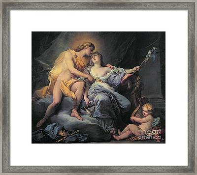 Apollo Caressing The Nymph Leucothea  Framed Print