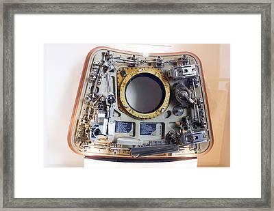 Apollo Command Module Hatch Framed Print by Mark Williamson