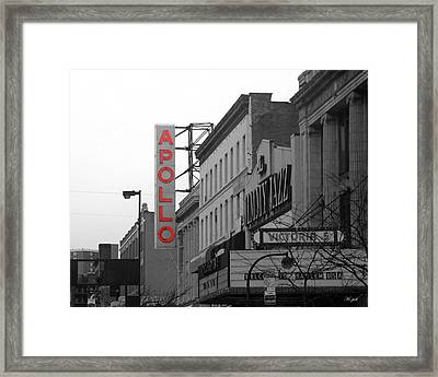 Apollo Theater In Harlem New York No.1 Framed Print by Ms Judi